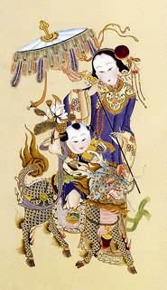 Chinese Kylin Painting,60cm x 100cm,4506001-x