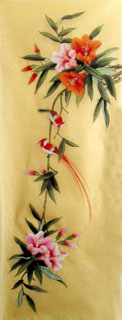 Chinese Lily Painting,42cm x 110cm,2336030-x