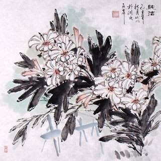 Chinese Lily Painting,50cm x 50cm,2403004-x