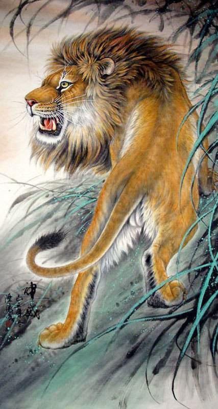 Lion 97cm x 180cm 38  ...