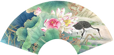 Chinese Lotus Painting,60cm x 21cm,2011033-x