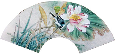 Chinese Lotus Painting,60cm x 21cm,2011034-x