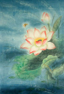 Chinese Lotus Painting,45cm x 65cm,2319011-x