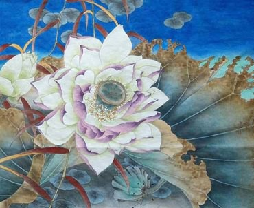 Chinese Lotus Painting,40cm x 50cm,2342014-x