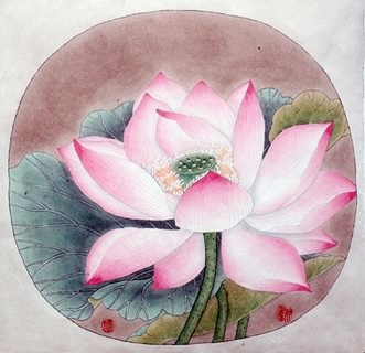 Chinese Lotus Painting,35cm x 40cm,2389025-x