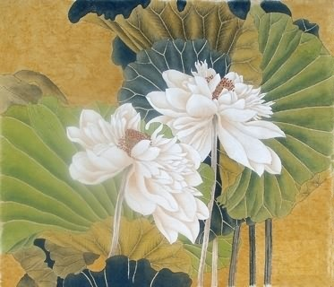 Chinese Lotus Painting,69cm x 69cm,2393007-x