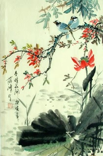 Chinese Lotus Painting,69cm x 46cm,2423002-x