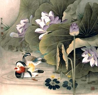 Chinese Lotus Painting,69cm x 69cm,2533038-x