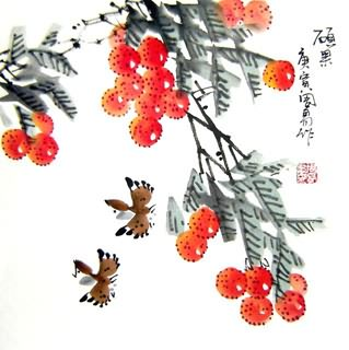 Chinese Lychee Painting,33cm x 33cm,2396029-x