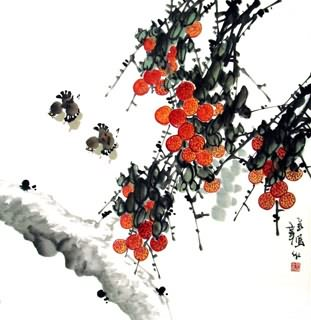 Chinese Lychee Painting,69cm x 69cm,2422006-x