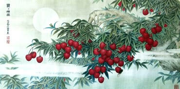 Chinese Lychee Painting,66cm x 136cm,2610012-x
