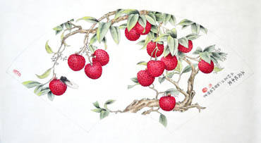 Chinese Lychee Painting,30cm x 62cm,2610017-x