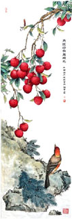 Chinese Lychee Painting,35cm x 100cm,2610019-x
