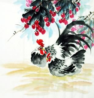 Chinese Lychee Painting,69cm x 69cm,2614052-x