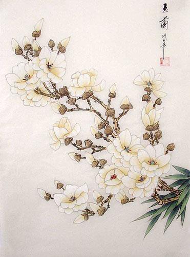 Chinese Magnolia Painting Magnolia 2336033 55cm X 40cm 22