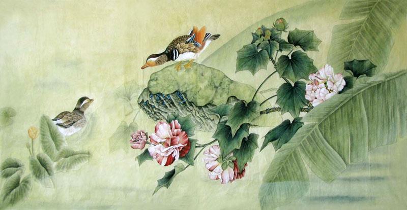 Chinese Mandarin Duck Painting Mandarin Duck 2352038 66cm