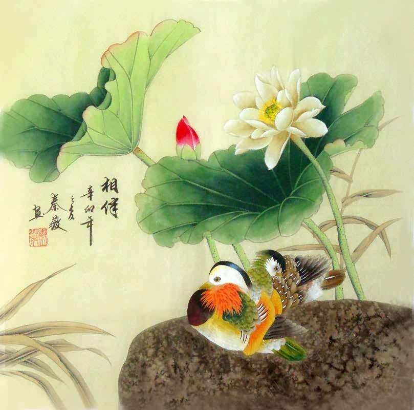 Chinese Mandarin Duck Painting Mandarin Duck 2527003 66cm
