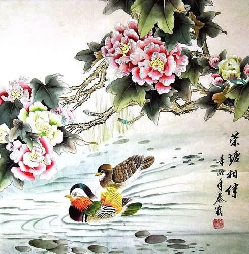 Chinese Mandarin Duck Painting Mandarin Duck 2703056 69cm