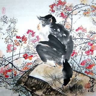 Chinese Monkey Painting,45cm x 45cm,4367026-x