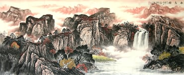 Chinese Mountain and Water Painting,96cm x 238cm,1001003-x
