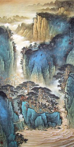 Mountain and Water,69cm x 138cm(27〃 x 54〃),1002006-z