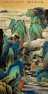 Chinese Mountain and Water Painting,100cm x 202cm,1002020-x