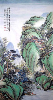 Chinese Mountain and Water Painting,65cm x 134cm,1006014-x