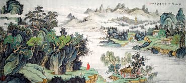Chinese Mountain and Water Painting,80cm x 180cm,1006018-x
