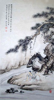 Chinese Mountain and Water Painting,50cm x 100cm,1006025-x