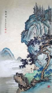 Chinese Mountain and Water Painting,50cm x 100cm,1006029-x