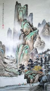 Chinese Mountain and Water Painting,50cm x 100cm,1006030-x