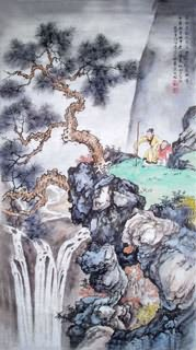 Chinese Mountain and Water Painting,50cm x 100cm,1006037-x