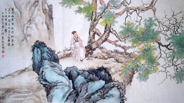 Chinese Mountain and Water Painting,50cm x 100cm,1006040-x