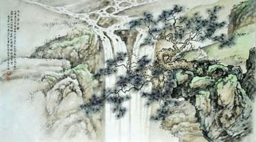 Chinese Mountain and Water Painting,50cm x 100cm,1006049-x