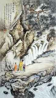 Chinese Mountain and Water Painting,50cm x 100cm,1006051-x