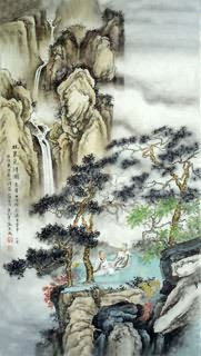 Chinese Mountain and Water Painting,50cm x 100cm,1006052-x