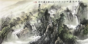 Chinese Mountain and Water Painting,66cm x 136cm,1010006-x