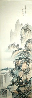 Chinese Mountain and Water Painting,50cm x 200cm,1011011-x