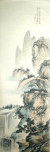 Mountain and Water,50cm x 200cm(20〃 x 79〃),1011011-z