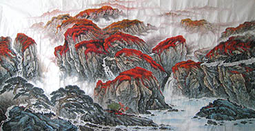 Chinese Mountain and Water Painting,120cm x 240cm,1011015-x