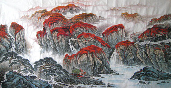 Mountain and Water,120cm x 240cm(47〃 x 94〃),1011015-z
