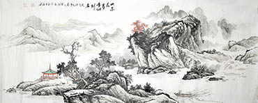 Chinese Mountain and Water Painting,70cm x 180cm,1011016-x
