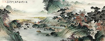 Chinese Mountain and Water Painting,70cm x 180cm,1011054-x