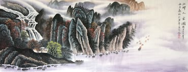 Chinese Mountain and Water Painting,70cm x 180cm,1021002-x