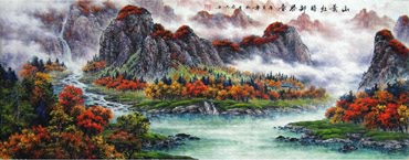 Chinese Mountain and Water Painting,70cm x 180cm,1061003-x
