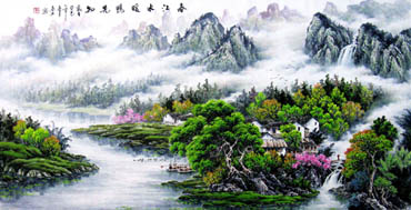 Chinese Mountain and Water Painting,90cm x 180cm,1061040-x
