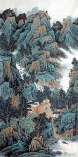 Chinese Mountain and Water Painting,69cm x 138cm,1068016-x