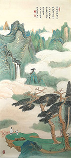 Chinese Mountain and Water Painting,55cm x 120cm,1126029-x