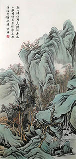 Chinese Mountain and Water Painting,45cm x 94cm,1126034-x