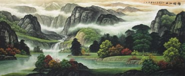 Chinese Mountain and Water Painting,140cm x 360cm,1135069-x